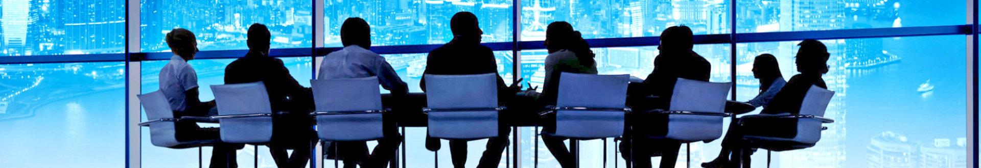 board directors having a meeting inside a meeting room